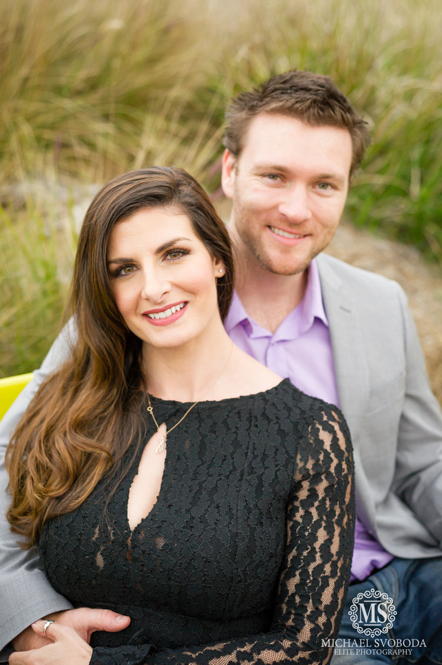 A couple posing for a classical portrait in North County San Diego