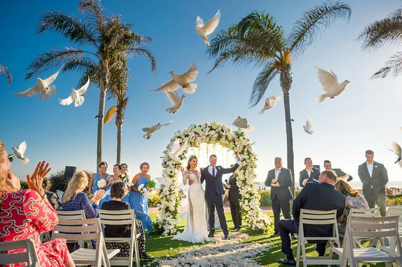The Doves Released - Hotel Del Coronado